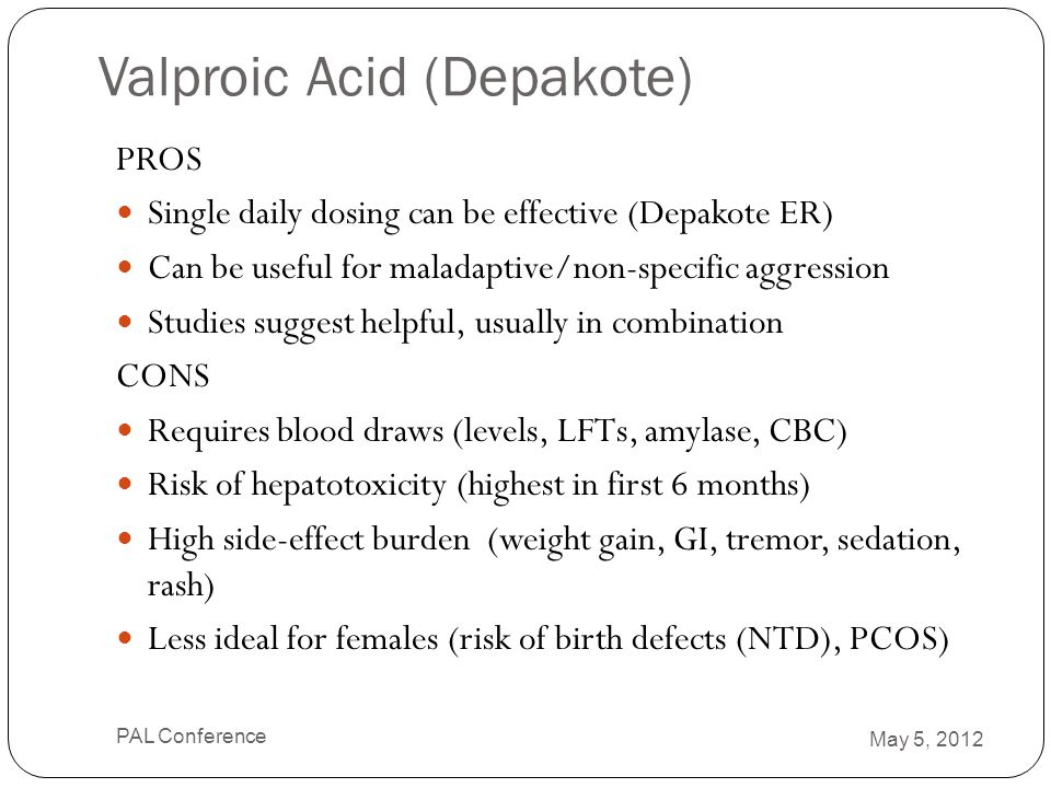 Valproic Acid (Depakote)