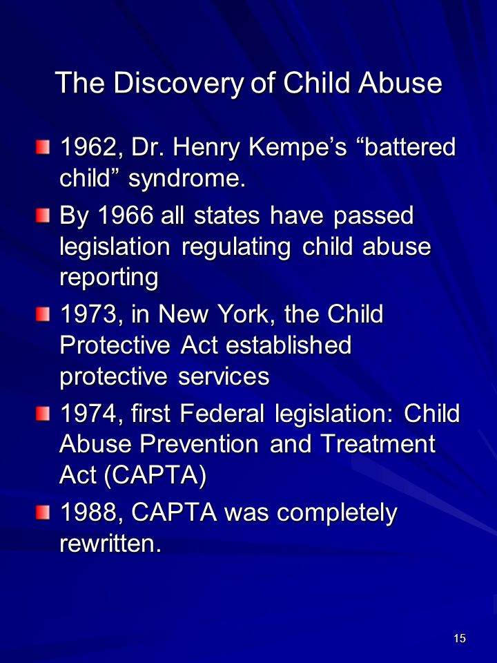 The Discovery of Child Abuse