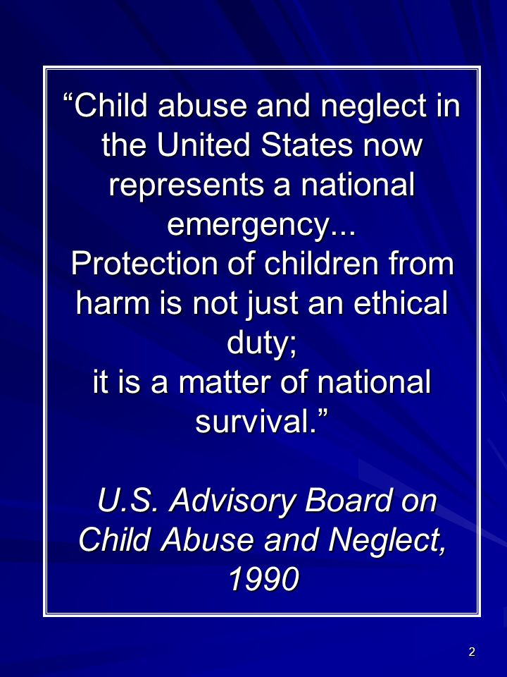 an analysis and an introduction to the child abuse prevention and treatment act in the united states