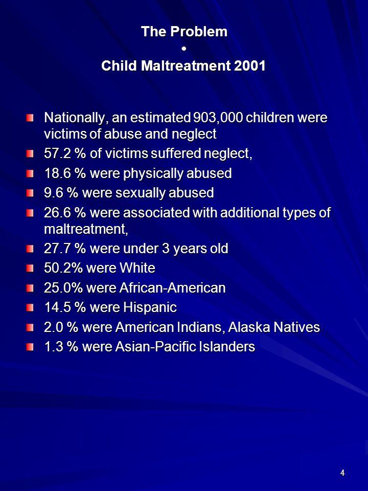 The Problem • Child Maltreatment 2001