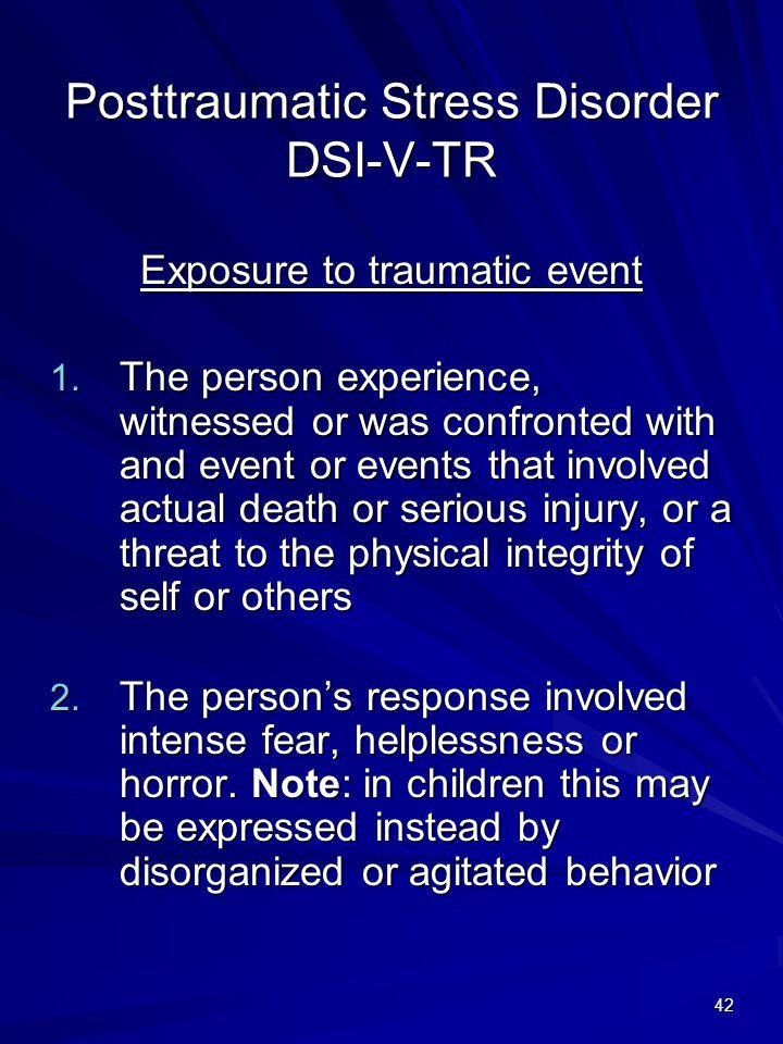 Posttraumatic Stress Disorder DSI-V-TR