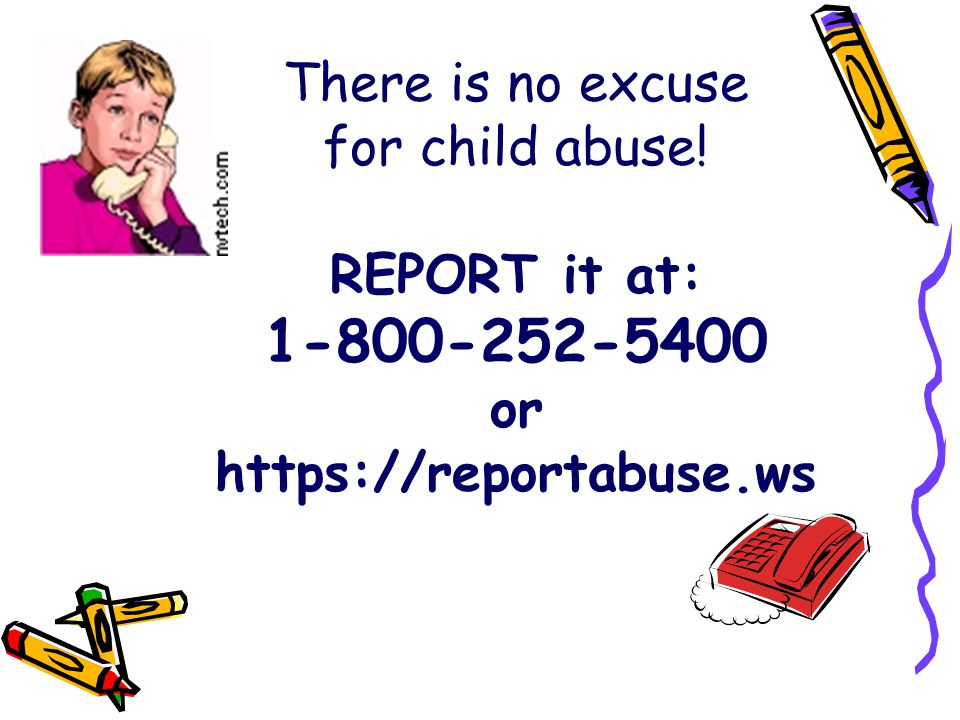 There is no excuse for child abuse