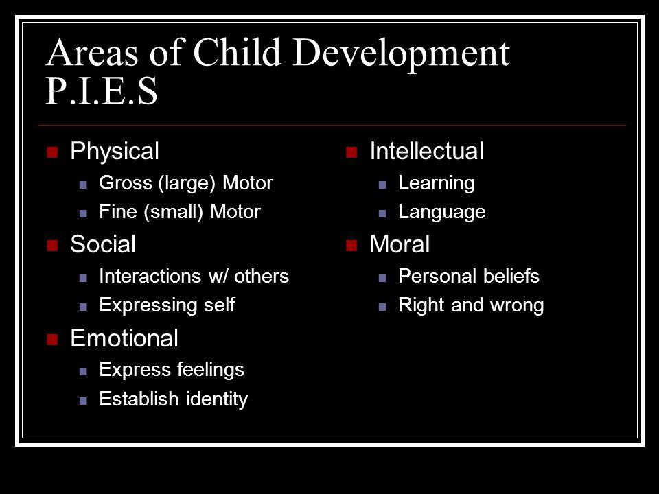 Areas of Child Development P.I.E.S