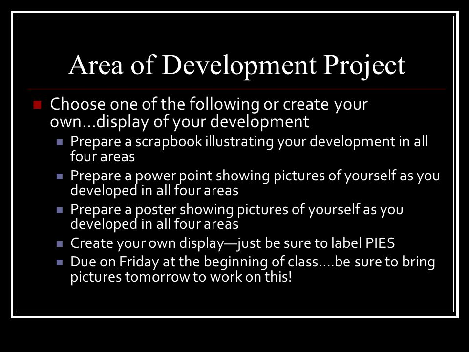 Area of Development Project