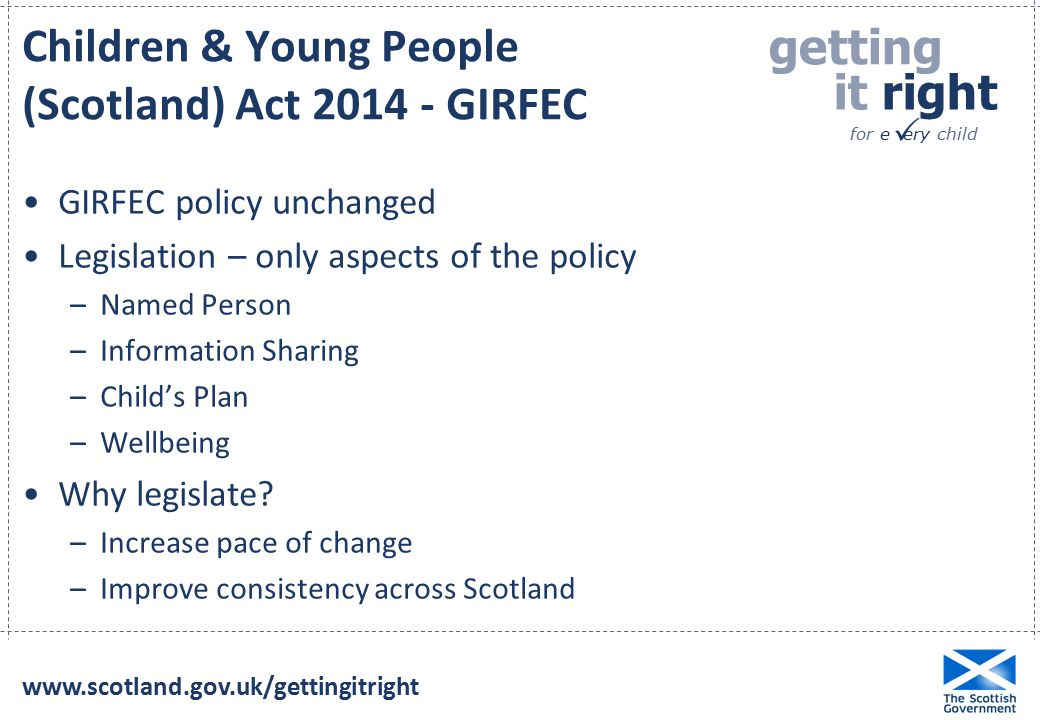 Children & Young People (Scotland) Act 2014 - GIRFEC