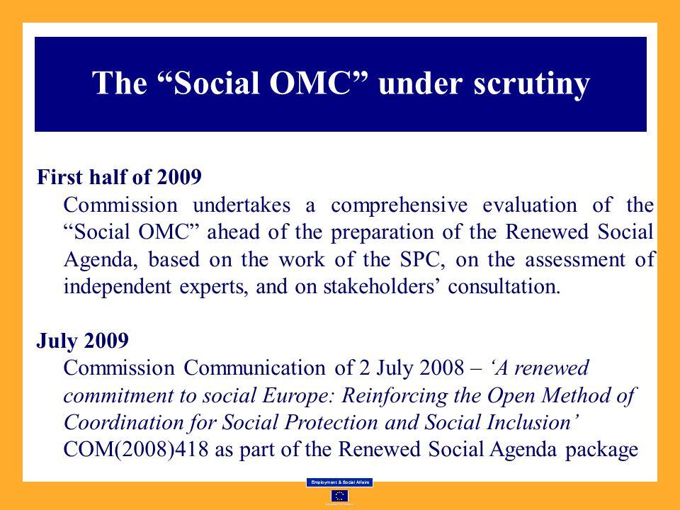 The Social OMC under scrutiny