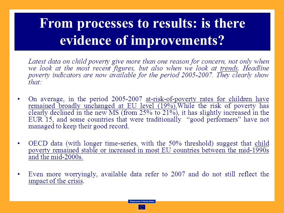 From processes to results: is there evidence of improvements