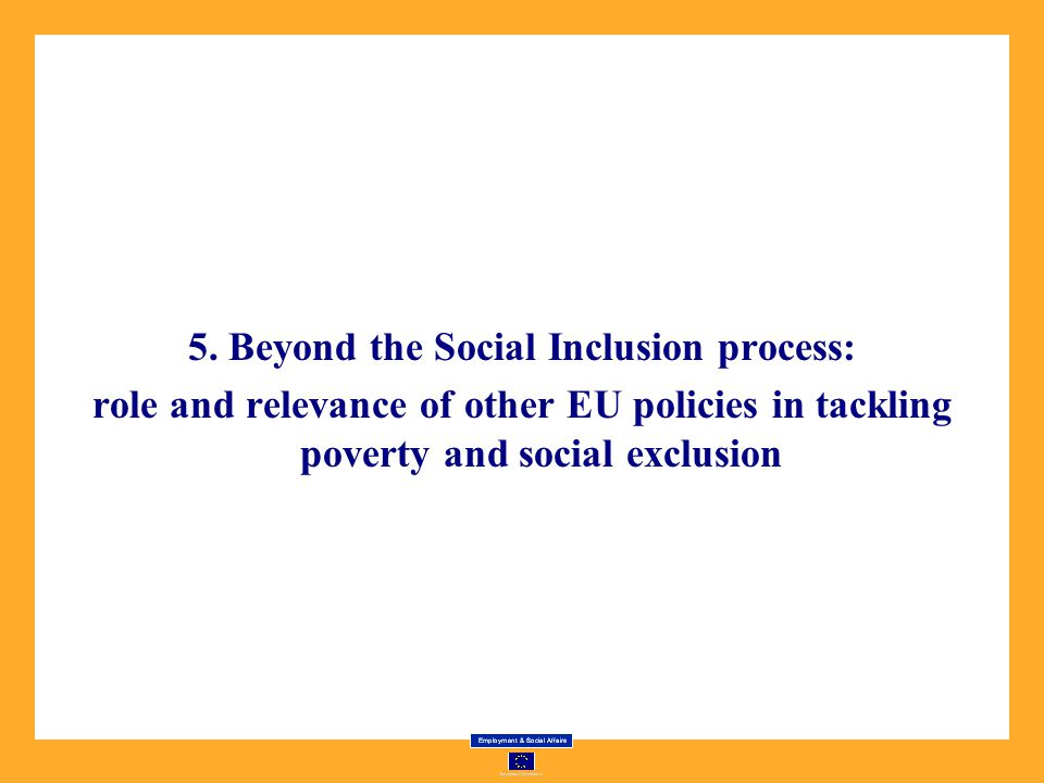 5. Beyond the Social Inclusion process: