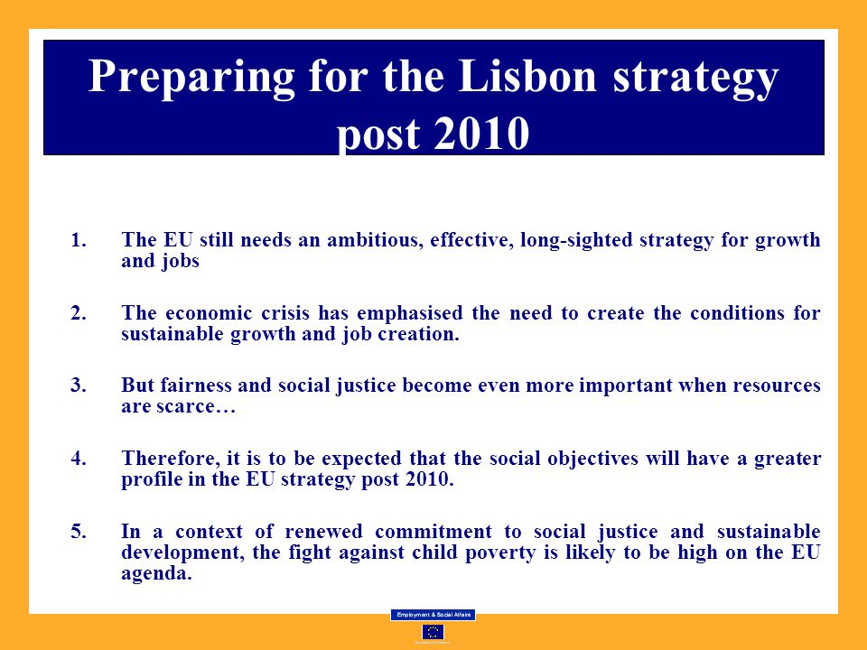 Preparing for the Lisbon strategy post 2010