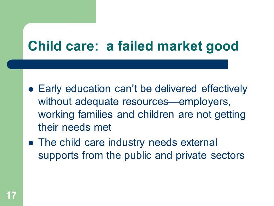 Child care: a failed market good
