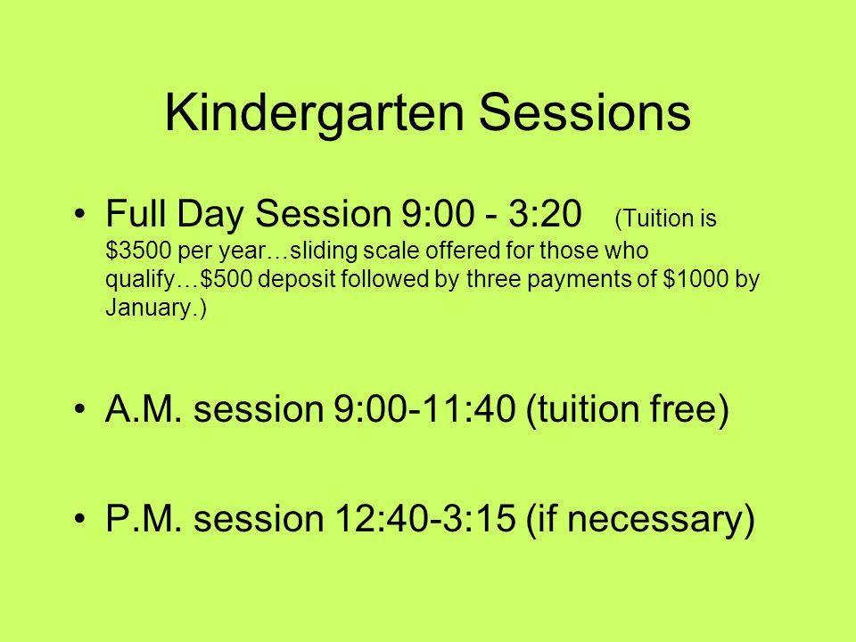 Kindergarten Sessions
