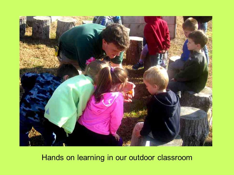 Hands on learning in our outdoor classroom