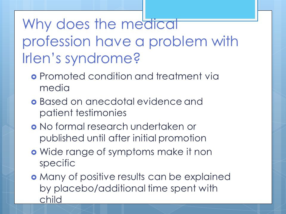 Why does the medical profession have a problem with Irlen's syndrome