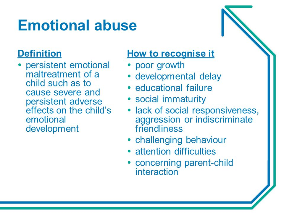 Emotional abuse Definition