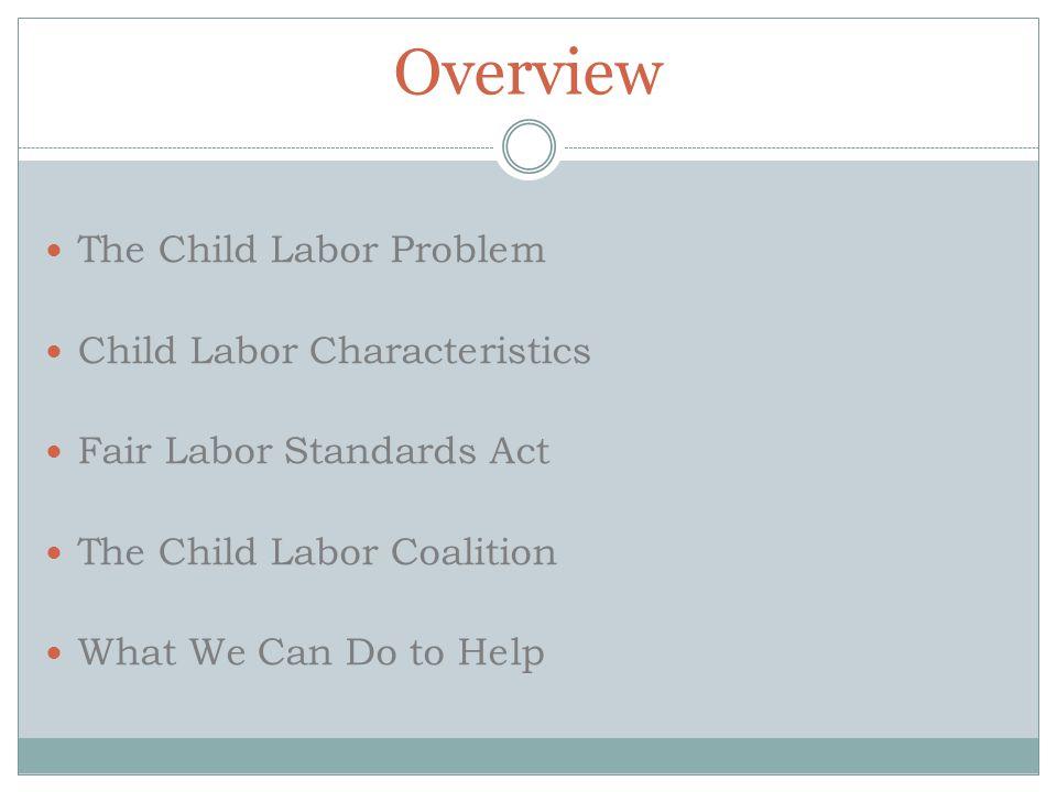 Overview The Child Labor Problem Child Labor Characteristics