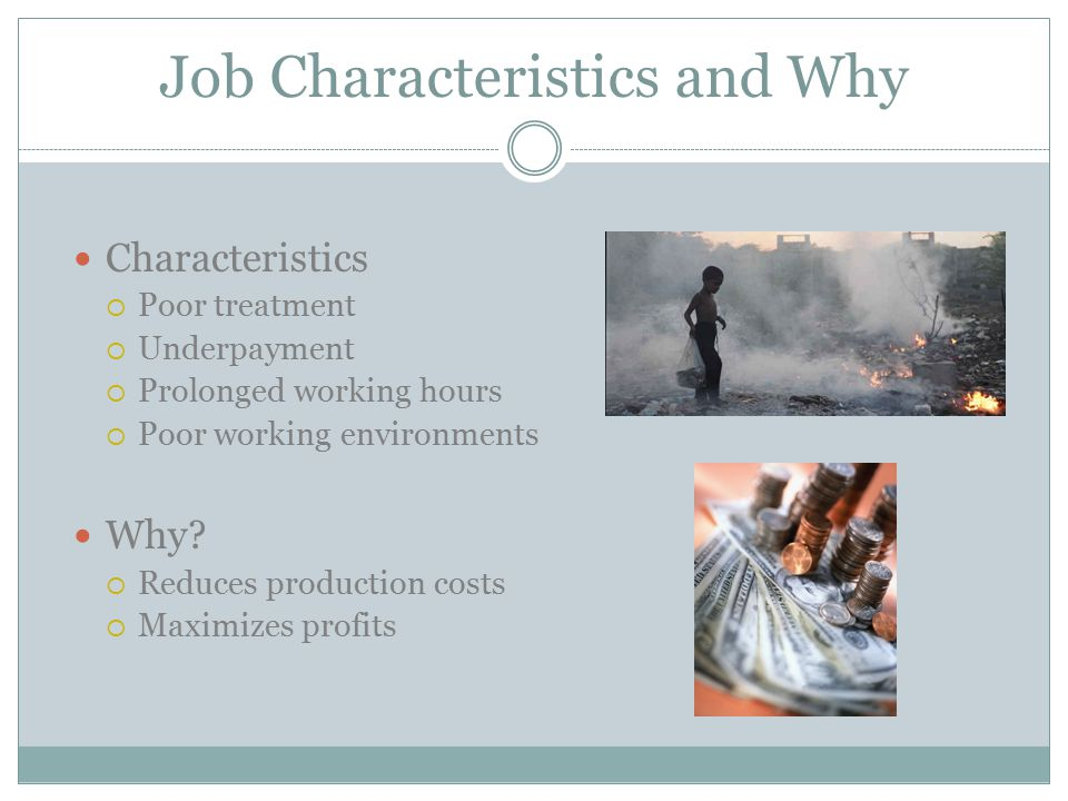 Job Characteristics and Why