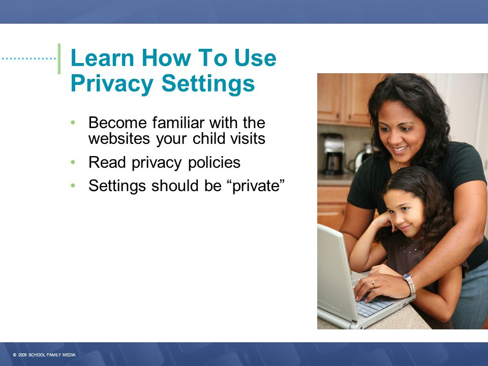 Learn How To Use Privacy Settings