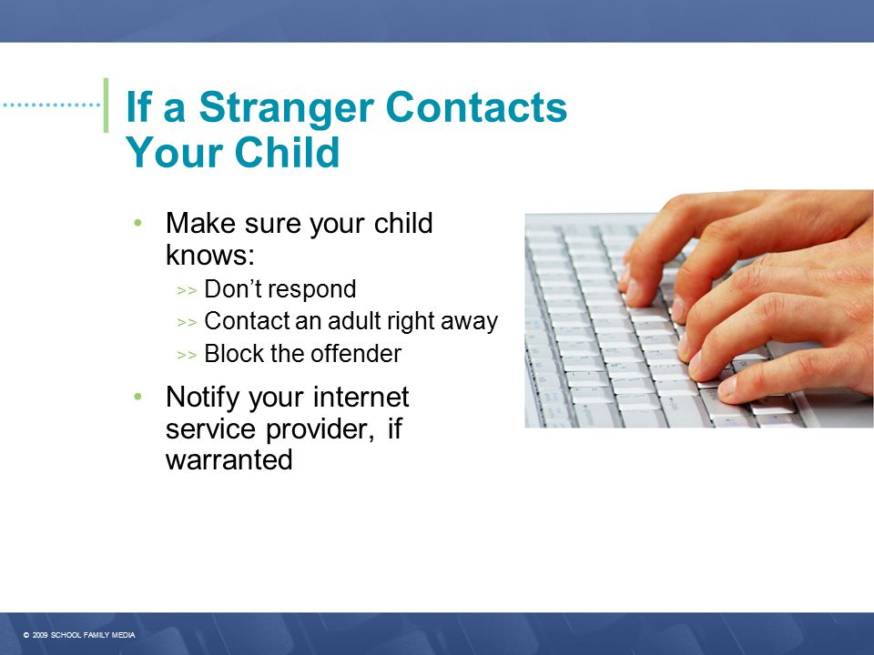 If a Stranger Contacts Your Child