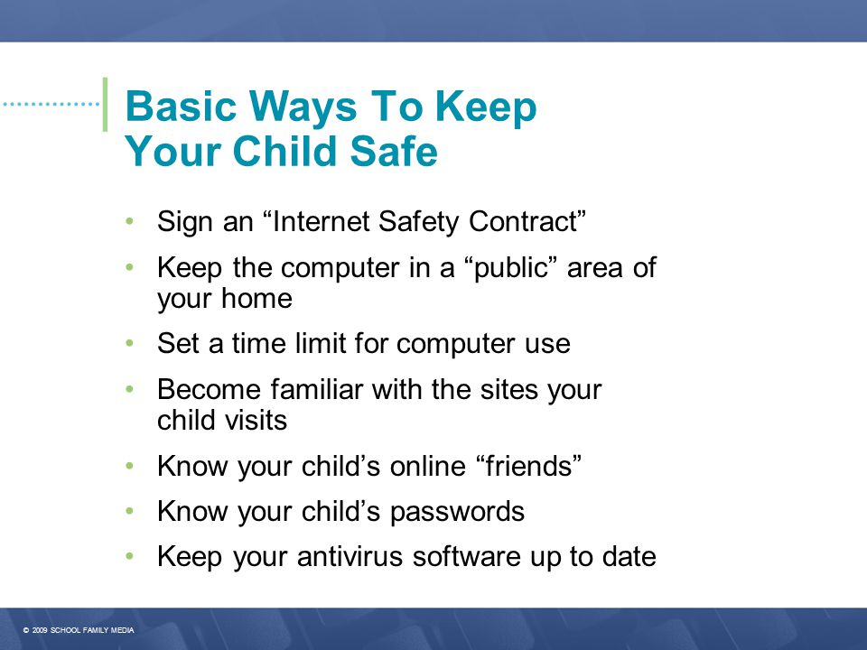 Basic Ways To Keep Your Child Safe