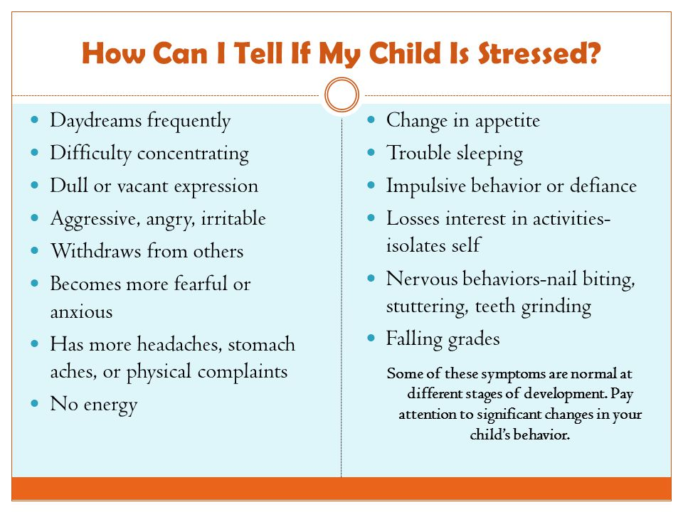 How Can I Tell If My Child Is Stressed