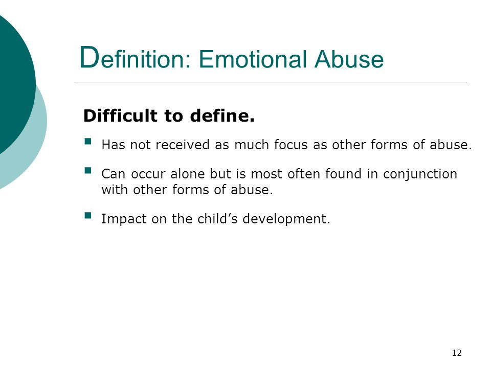 Definition: Emotional Abuse