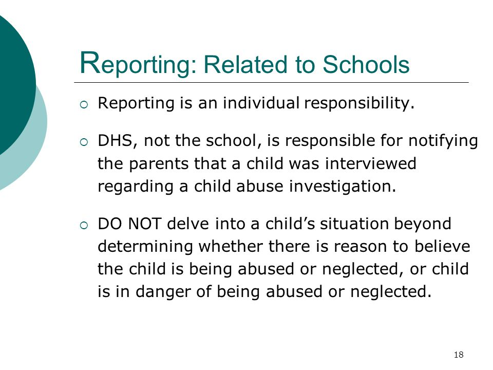 Reporting: Related to Schools