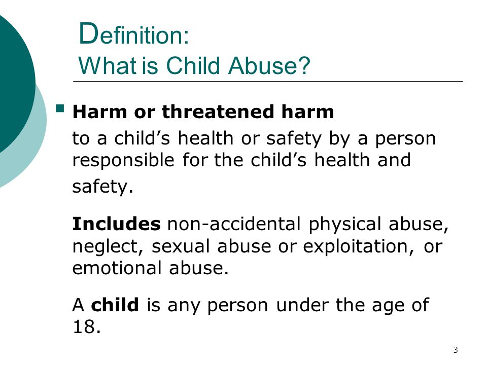 Definition: What is Child Abuse