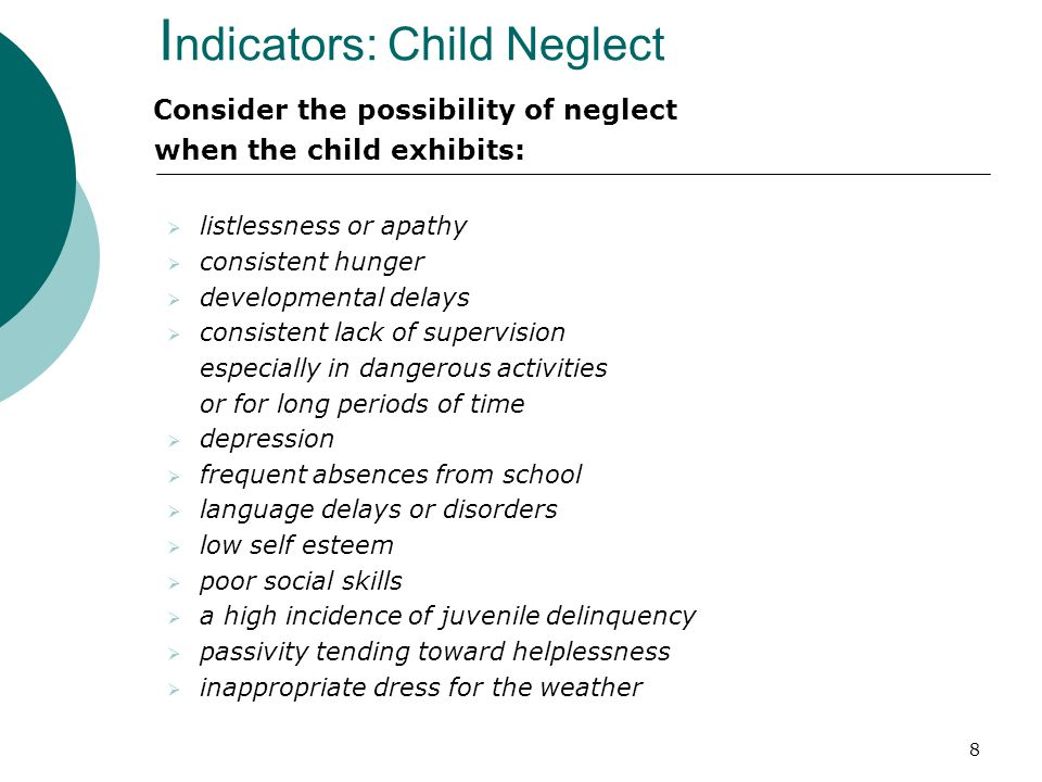 Indicators: Child Neglect
