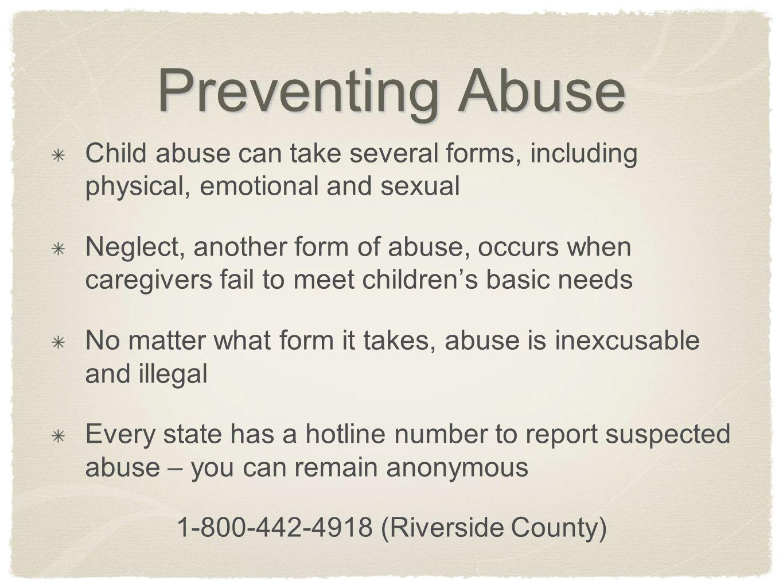 1-800-442-4918 (Riverside County)