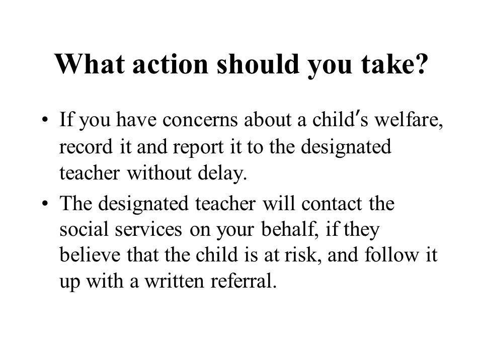 What action should you take