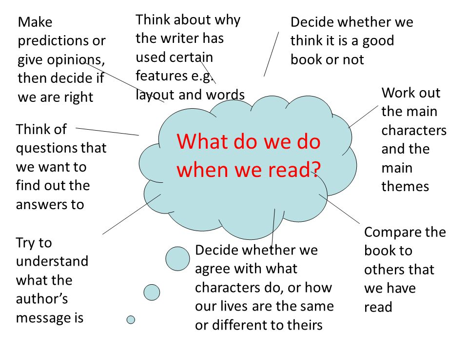 What do we do when we read