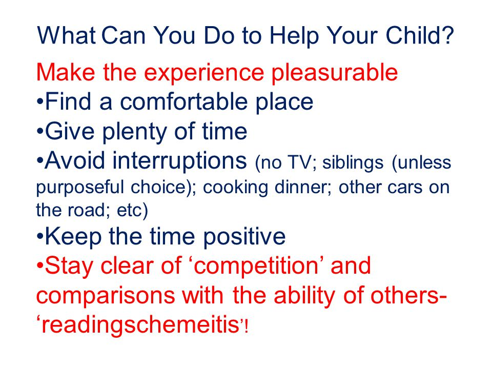 What Can You Do to Help Your Child