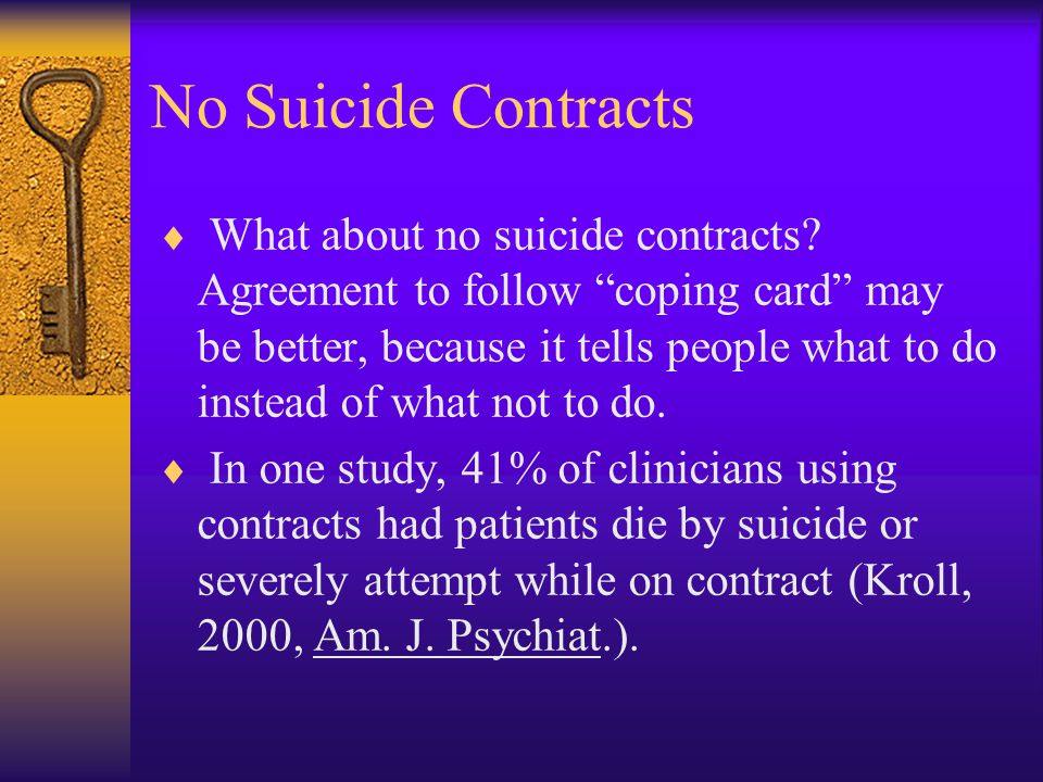 No Suicide Contracts