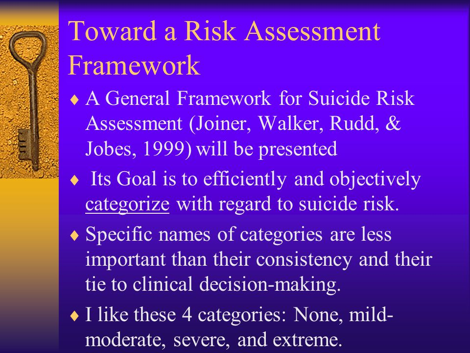 Toward a Risk Assessment Framework