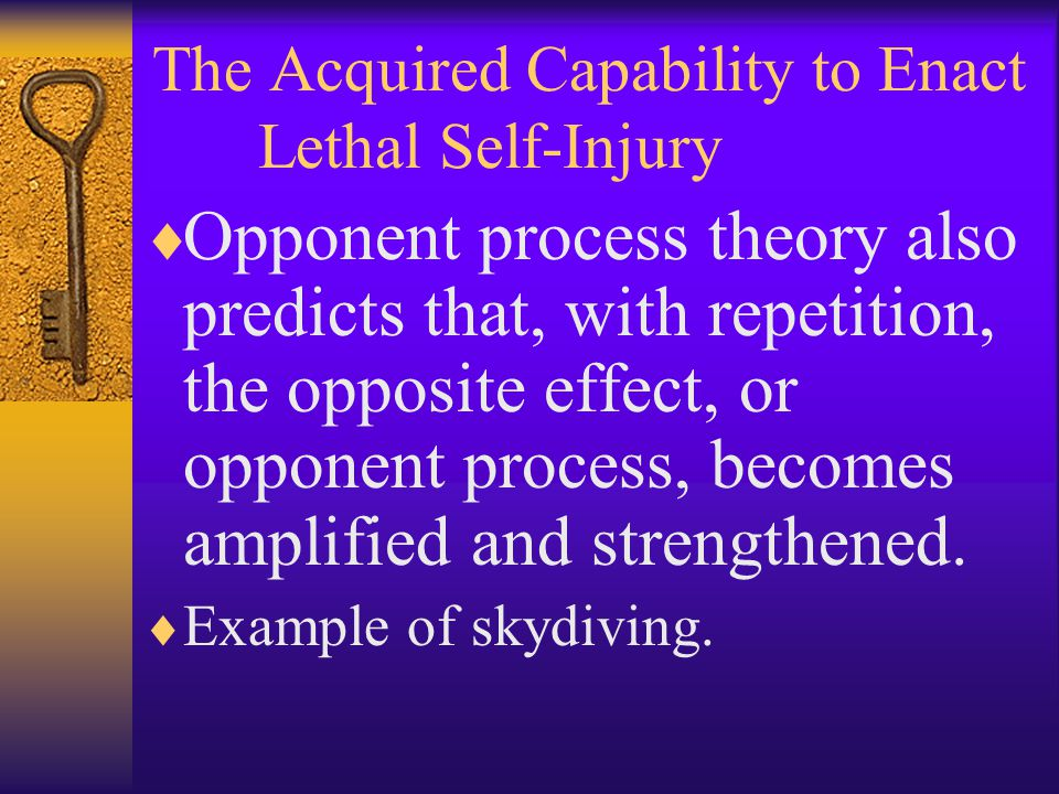 The Acquired Capability to Enact Lethal Self-Injury