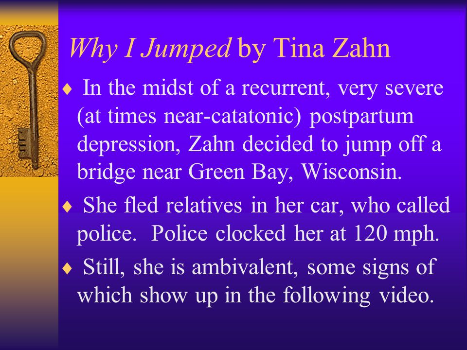 Why I Jumped by Tina Zahn