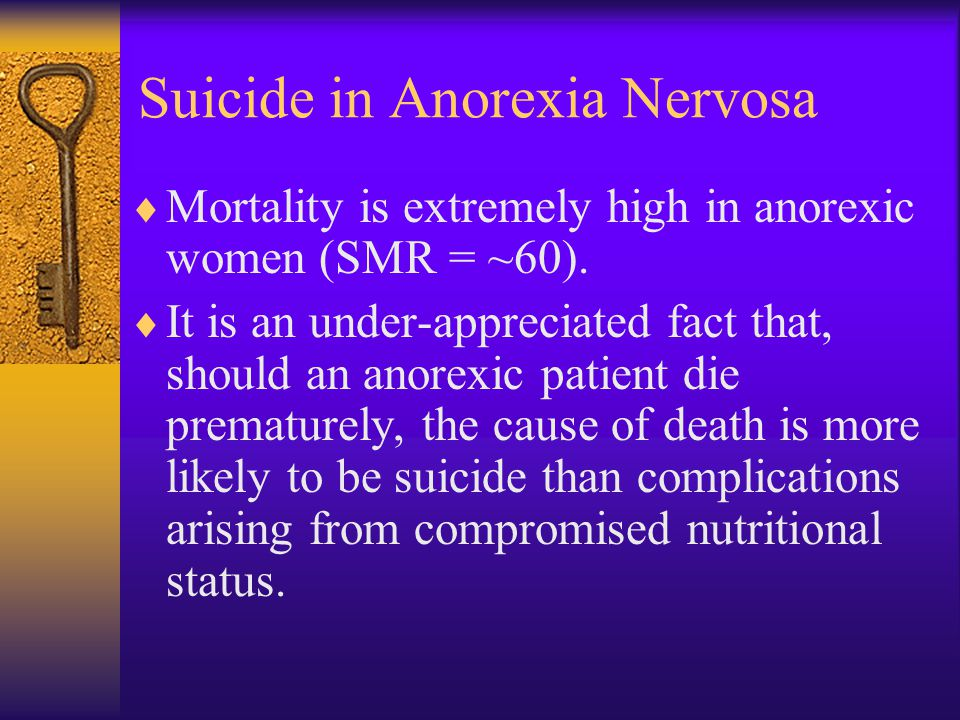 Suicide in Anorexia Nervosa