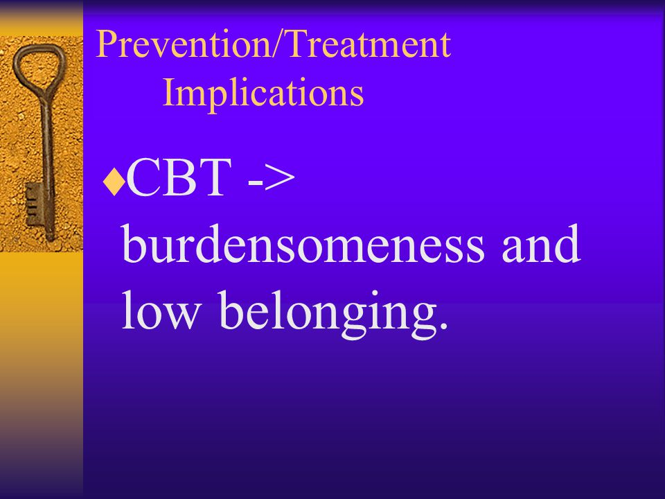Prevention/Treatment Implications