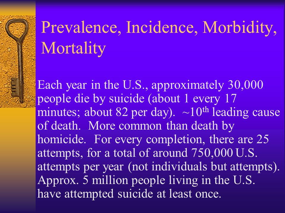 Prevalence, Incidence, Morbidity, Mortality