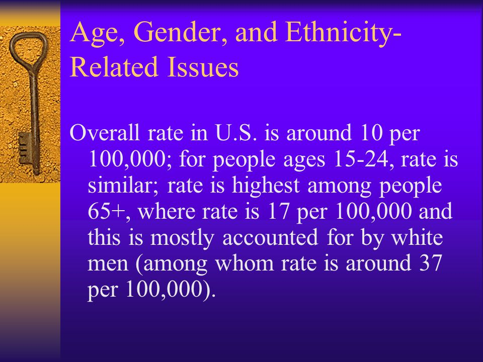 Age, Gender, and Ethnicity-Related Issues