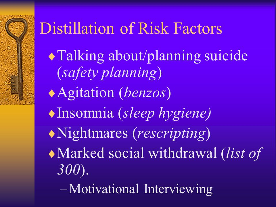 Distillation of Risk Factors