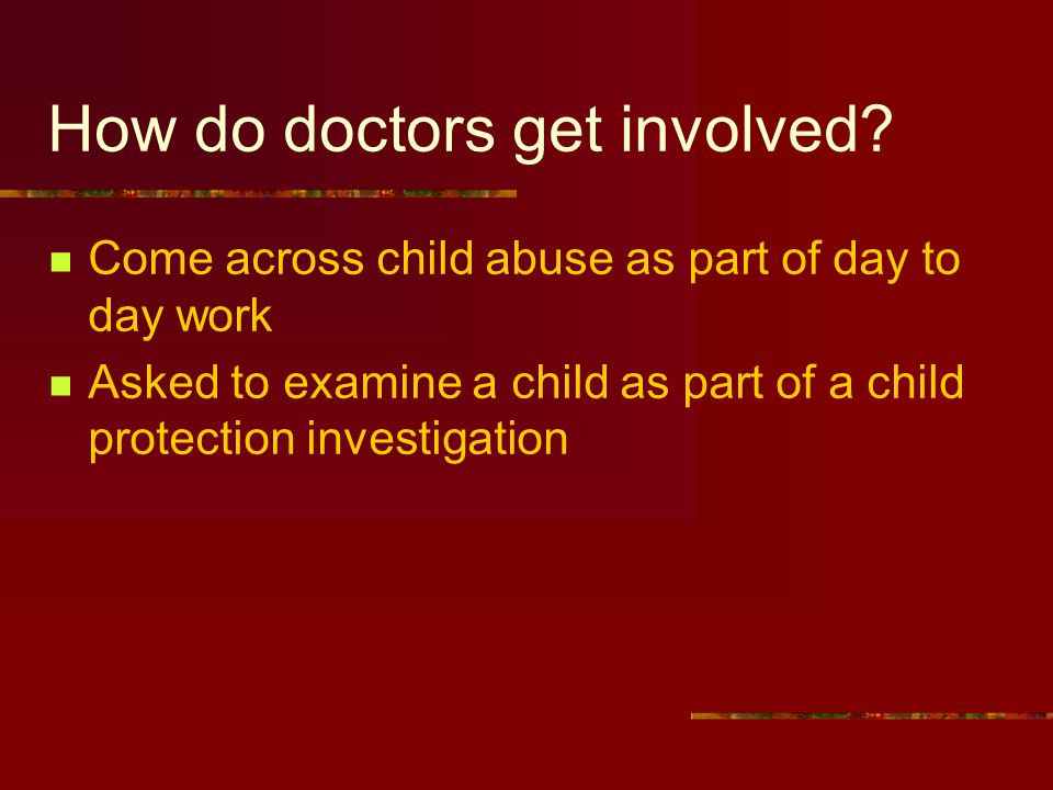 How do doctors get involved