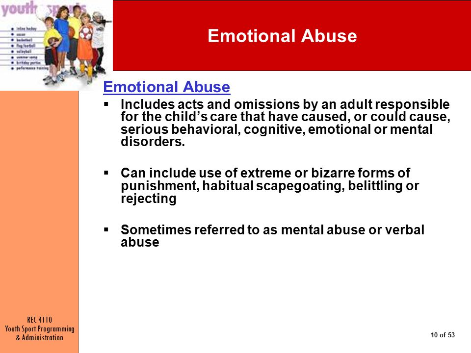 Emotional Abuse Emotional Abuse