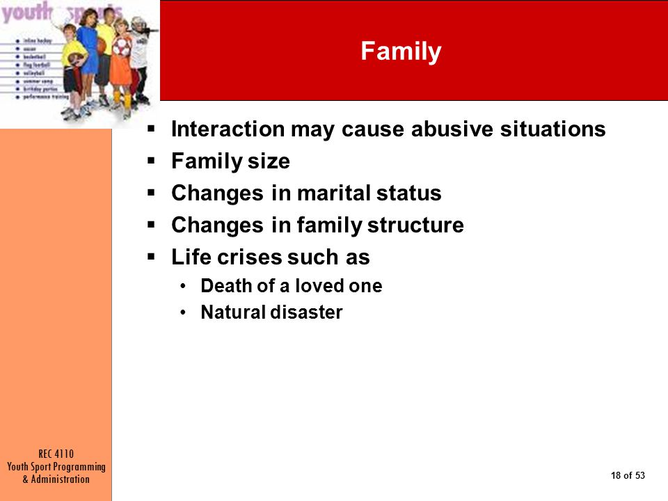 Family Interaction may cause abusive situations Family size