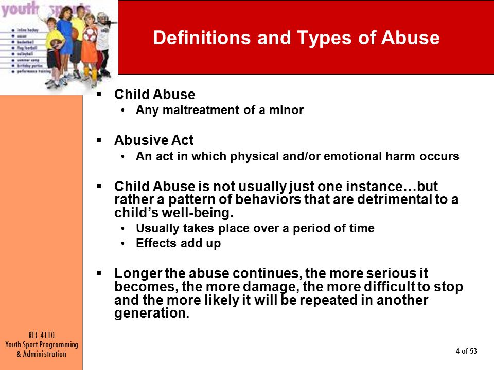Definitions and Types of Abuse
