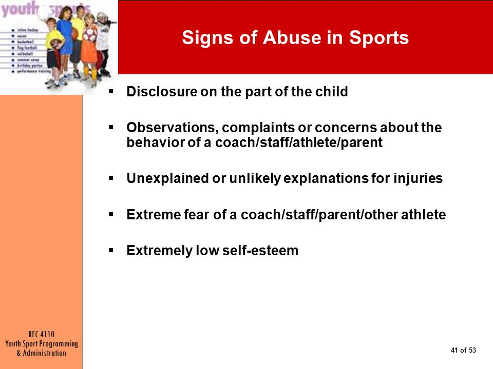 Signs of Abuse in Sports
