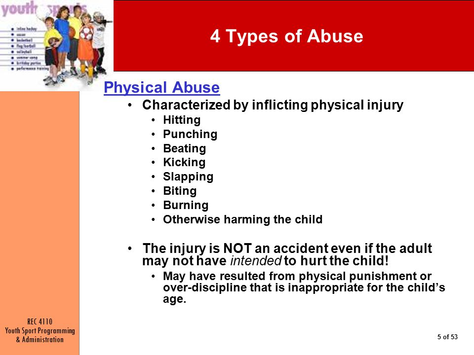 4 Types of Abuse Physical Abuse