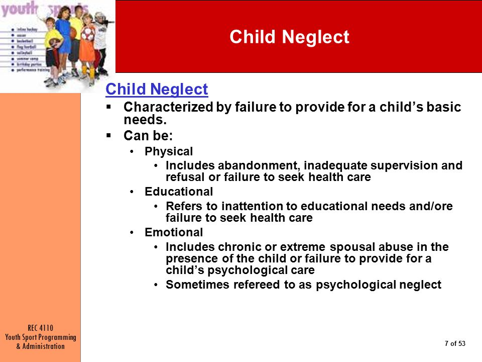 Child Neglect Child Neglect