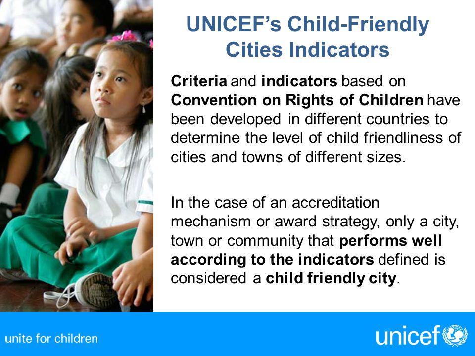 UNICEF's Child-Friendly Cities Indicators