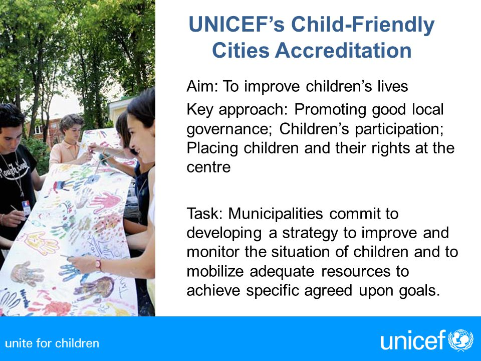 UNICEF's Child-Friendly Cities Accreditation